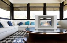 Ethanol Fireplaces: The Easiest Way To Achieve A Contemporary Look Biofuel Fireplace, Ethanol Fireplace, Fireplaces, Insert Double Face, Wood Burning Logs, Portable Fireplace, Freestanding Fireplace, Log Burner, Fireplace Inserts