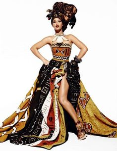 Beyonce for Vogue ~African fashion, Ankara, kitenge, African women dresses… African Inspired Fashion, African Print Fashion, Africa Fashion, Ethnic Fashion, African Prints, African Textiles, Ankara Fashion, African Fabric, Ghanaian Fashion