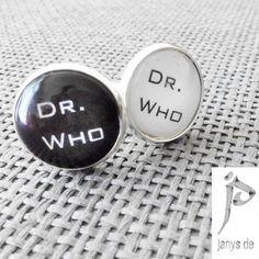 Dr Who typeset- Cufflinks