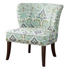 JLA Home Green & Teal Geometric Accent Chair ($170) ❤ liked on Polyvore featuring home, furniture, chairs, accent chairs, modern accent chairs, green chair, geometric chair, padded chairs and modern home furniture