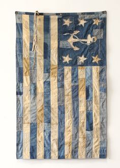 Embroidery Jeans Diy Rag Quilt 22 New Ideas Flag Quilt, Patriotic Quilts, Nautical Flags, Nautical Quilt, Sewing Lace, Basic Sewing, Denim Crafts, Jean Crafts, Quilt Of Valor