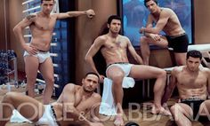 Dolce and Gabbana's best idea for a photo shoot ever. This is not the Italian national team; it's one of the clubs, I think.