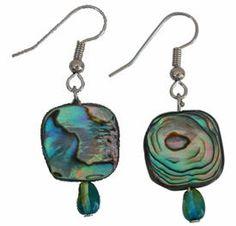 Green Abalone Earrings  #pantone #2013