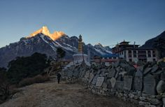 Dawn at Tengboche Monastery