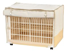 IRIS Covered Plastic Animal Cage, White, Small The Plastic crate is great for Small dogs. Easy access sliding door Dimensions: x x Comes with a polyester and cotton cover Front of cover can be rolled and secured to allow access to crate door. Cat Cages, Rabbit Cages, Small Breed, Small Dogs, Pig Habitat, Plastic Dog Crates, Small Animal Cage, Small Animals, Puppy Care