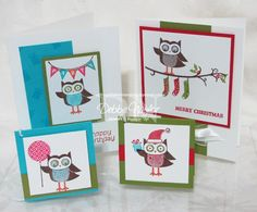 Unfrogettable Stamping:  8-17-12 Owl Occasions card set