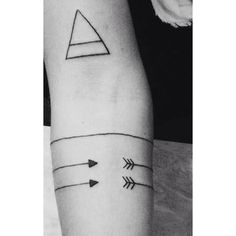 Geometric shape tattoo idea