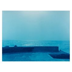 La Gran Calima - Pier Prussian Blue, Cyanotype, Canary Islands, Black And White Photography, The Help, Ocean, Sky, Water, Prints