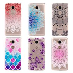 2016 new Soft silicone Protector Cases caver for Huawei Honor 5X Y3 2 Y3II Printed Flower case for Huawei Y5 2 Y5II phone cover