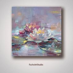 Oil painting Flowers art colorful flower art romantic canvas painting silver framed wall art cheap blank canvas for painting Water Lilies Painting, Oil Painting Flowers, Oil Painting Abstract, Painting Art, Watercolor Painting, Watercolor Artists, Painting Lessons, Small Canvas Paintings, Mini Canvas Art