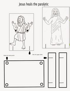 Jesus heals school ideas and sunday school on pinterest for Jesus heals paralytic coloring page