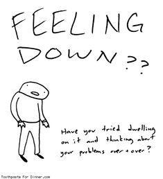 Comic by Toothpaste For Dinner: feeling down