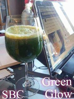 "Green Glow   1 cucumber 1/2 whole ""bunch"" parsley (about a handful) 2 large handfuls spinach 2 large handfuls baby kale (can use large kale as well) 4 stalks celery 2 apples  Juice everything, enjoy!  Makes 2 servings about 1 1/2 cups each. Quite mild tasting greens as the apple sweetens it nicely.https://www.facebook.com/groups/marlenesfriends/ https://www.facebook.com/gethealthy58 Follow me here https://www.facebook.com/marlenepletcher58"