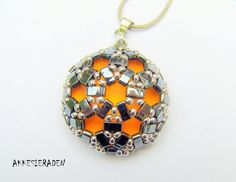*P Pattern for the Half Tila Mosaic Pendant. by Akkesieraden on Etsy, €6.00