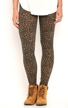Deb Shops Lightweight Jacquard Cheetah Print #Legging $12.00