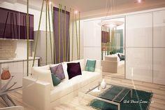 Garsoniera Timpuri Noi - Art Deco Zone & Knox Design - Amenajari interioare Bucuresti Divider, Art Deco, Couch, Modern, Room, Furniture, Ideas, Design, Home Decor