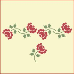 Cottage Roses Stencil Set | Gorgeous home decor and crafting stencil from The Artful Stencil! US Shipping in only 5 days. We ship all over the world.