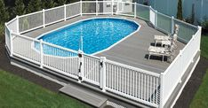 Semi Above Ground Pool, In Ground Pools, Semi Inground Pools, Swimming Pools Backyard, Long Island House, Pool Deck Decorations, Mobile Home Porch, Pool Cost, Above Ground Pool Landscaping