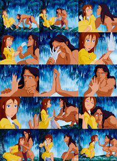 Tarzan and Jane Disney Pixar, Walt Disney, Tarzan Disney, Disney Couples, Disney Animation, Disney And Dreamworks, Disney Girls, Animation Film, Disney Art