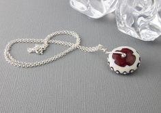 Lampwork Wheel Pendant Necklace by Ciel Creations
