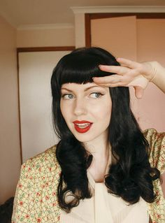 "I love the blunt short bangs.  [sn: this would go great with ""hair #1"" in my ""hair inspirations for Erica"" board]"
