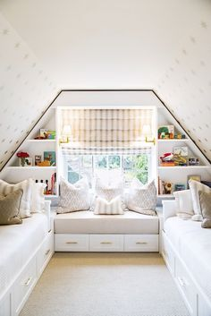 Attic Kids Bedroom, Transitional, girl's room, Shannon Wollack