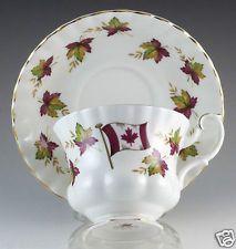 Vintage Bone China Royal Albert Canada Tea Cup & Saucer From Sea To Sea