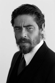 Benicio Del Toro is probably one of the most underrated cool men of Hollywood and a great actor as well. I want his beard!