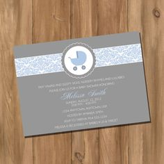 Custom Boy or Girl Damask Baby Shower Invitation by DigiPrintz, $10.00
