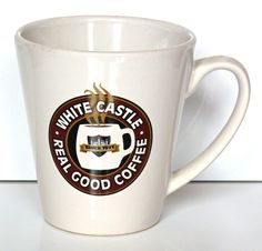 White Castle Coffee Tea Cup Mug Restaurant  Coffee You Crave 2001