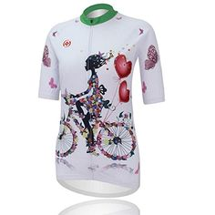Womens Cycling Jersey Mountain Bike t shirt Riding Short Sleeve tops Sweat Releasing Fast Drying -- Read more  at the image link.Note:It is affiliate link to Amazon.