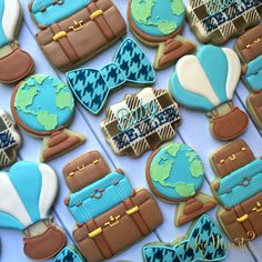 Custom decorated cookies in the Houston Area for every occassion. Contact Cookie Momster by Hilary today to order yours. Baby Boy Cookies, Baby Shower Cookies, Cute Cookies, Teapot Cookies, Iced Cookies, Sugar Cookies, Travel Baby Showers, Sugar Cookie Royal Icing, Cookie Crush