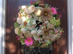 Well Dressed Easter Bunny Burlap and Mesh Wreath by HertasWreaths