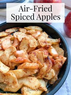 These spiced apples are so comforting and delicious. This recipe Air-Fried Spice… These spiced apples are so comforting and delicious. This recipe Air-Fried Spiced Apples makes having yummy, cooked apples easy and quick. Air Fryer Recipes Potatoes, Air Fryer Oven Recipes, Air Frier Recipes, Air Fryer Dinner Recipes, Apple Recipes Dinner, Air Fryer Chicken Recipes, Air Fryer Recipes Vegetables, Cooking Vegetables, Baked Potatoes