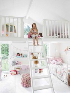 30 Functional and Cozy Children's Room Design Ideas is part of children Playroom Dream Rooms - 30 great interior design inspirations and few tips what should be taken into account before designing childrens room Dream Rooms, Dream Bedroom, Girls Bedroom, Bedroom Ideas, Pretty Bedroom, Bedroom Decor, Attic Bedrooms, Childs Bedroom, Bedroom Lighting