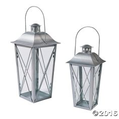 Silver Metal Lanterns - OrientalTrading.com