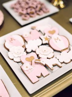 Cookies from a Glamorous Unicorn Christening Party on Kara's Party Ideas | KarasPartyIdeas.com (4)