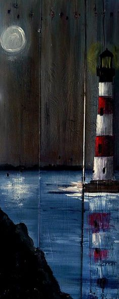 Sc Lighthouse Print By Ashley Galloway – Wood Works – Just another WordPress site Pallet Painting, Pallet Art, Painting On Wood, Rustic Painting, Diy Painting, Lighthouse Painting, Driftwood Art, Beach Art, Oeuvre D'art