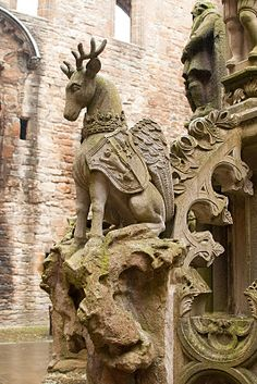 statue of peryton - Linlithgow Palace, Edinburgh, Scotland