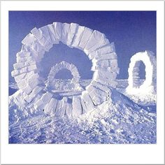 Andy Goldsworthy Ice Sculpture: http://blog.toddreed.com/artist-inspiration/