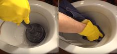 Say goodbye to hard water stains in the toilet with this trick Hard Water Stains, Canned Heat, Toilet Cleaning, Toilet Bowl, White Vinegar, Voici, Tips And Tricks, Good Bye, Stains