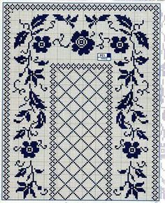This Pin was discovered by Olg Cross Stitch Embroidery, Embroidery Patterns, Cross Stitch Patterns, Crochet Patterns, Textile Pattern Design, Crochet Dollies, Filet Crochet Charts, Fillet Crochet, Crochet Curtains