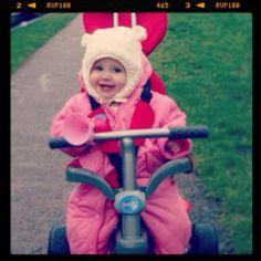 #cute baby on her #smartrike