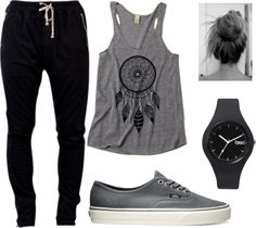 """""""Move your body and messy bun outfit"""" by leaskor ❤ liked on Polyvore"""