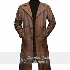 Leather Coats, Leather Trench Coat, Brown Leather, Leather Jacket, Winter Coat, Shop Now, Jackson, Winter Fashion, Raincoat