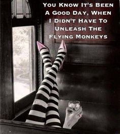 you know its been a good day when you dont have to unleash the flying monkeys - Google Search