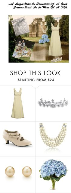 """""""Opening Lines- Pride and Prejudice"""" by jostockton ❤ liked on Polyvore featuring Soho de Luxe, Bling Jewelry, OKA and Green 3"""