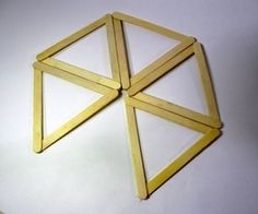 What is an Icosahedron? In geometry, an icosahedron is a regular polyhedron with 20 identical equilateral triangular faces, 30 edges and 12 vertices. Ice Cream Stick Craft, Popsicle Stick Art, Pop Stick, Popsicle Stick Crafts, Craft Stick Crafts, Craft Sticks, Kids Crafts, Wine Cork Crafts, Wine Bottle Crafts