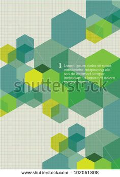 Corporate layout Cubes Design Visual Template