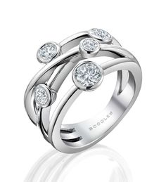 http://www.boodles.com/raindance-classic-anniversary-ring-286.html A contemporary, versatile diamond ring from Boodles' iconic Raindance collection, set with 0.81ct of round-brilliant cut diamonds in a platinum multi-strand band